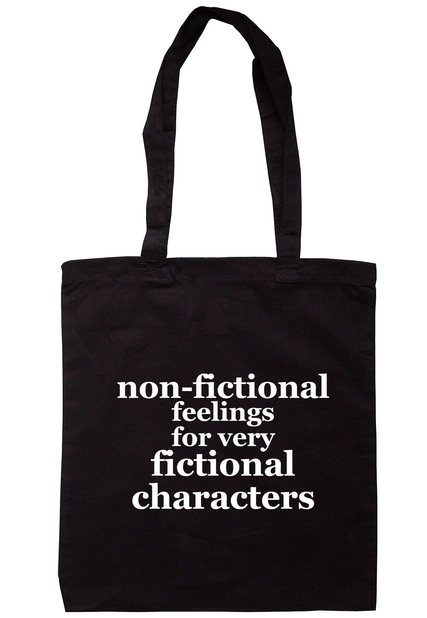 Non-Fictional Feelings For Very Fictional Characters Tote Bag TB0493 - Illustrated Identity Ltd.