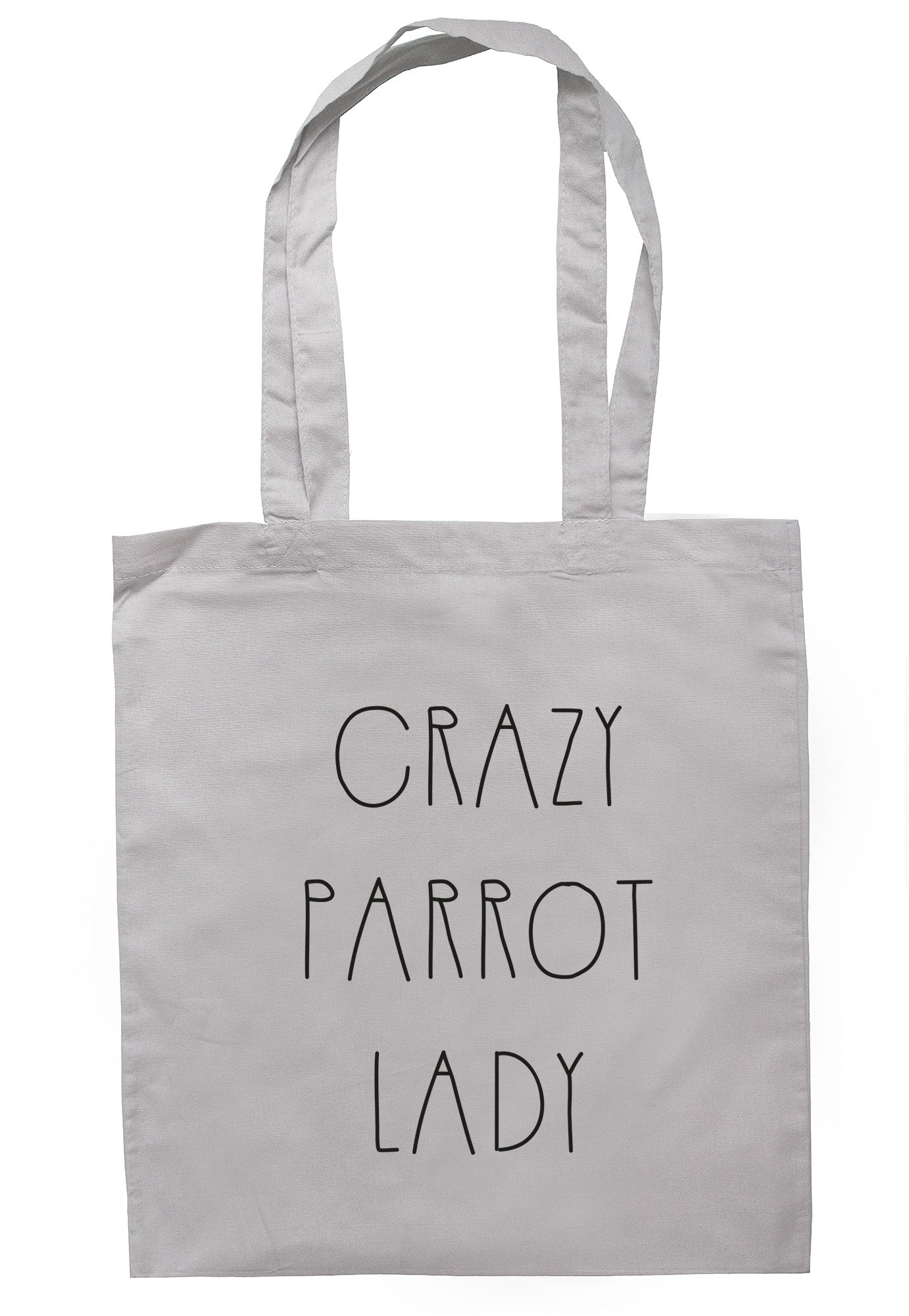 Crazy Parrot Lady Tote Bag TB0393 - Illustrated Identity Ltd.