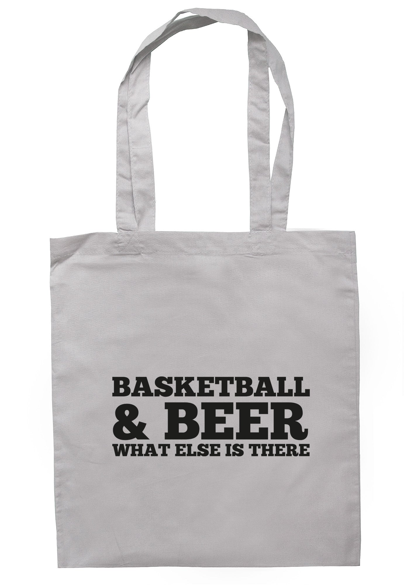 Basketball & Beer What Else Is There Tote Bag TB0468 - Illustrated Identity Ltd.