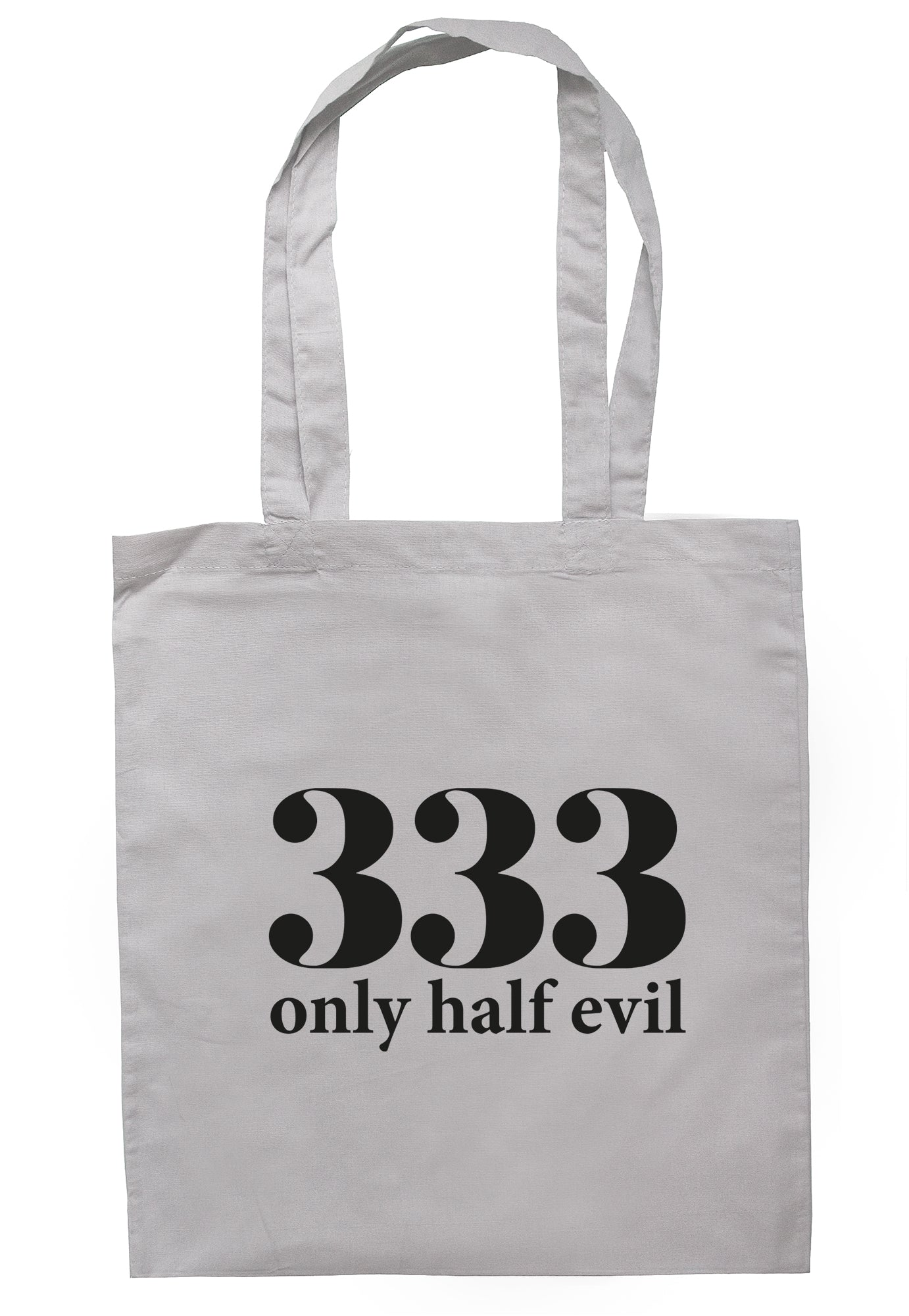 333 Only Half Evil Tote Bag TB1666 - Illustrated Identity Ltd.