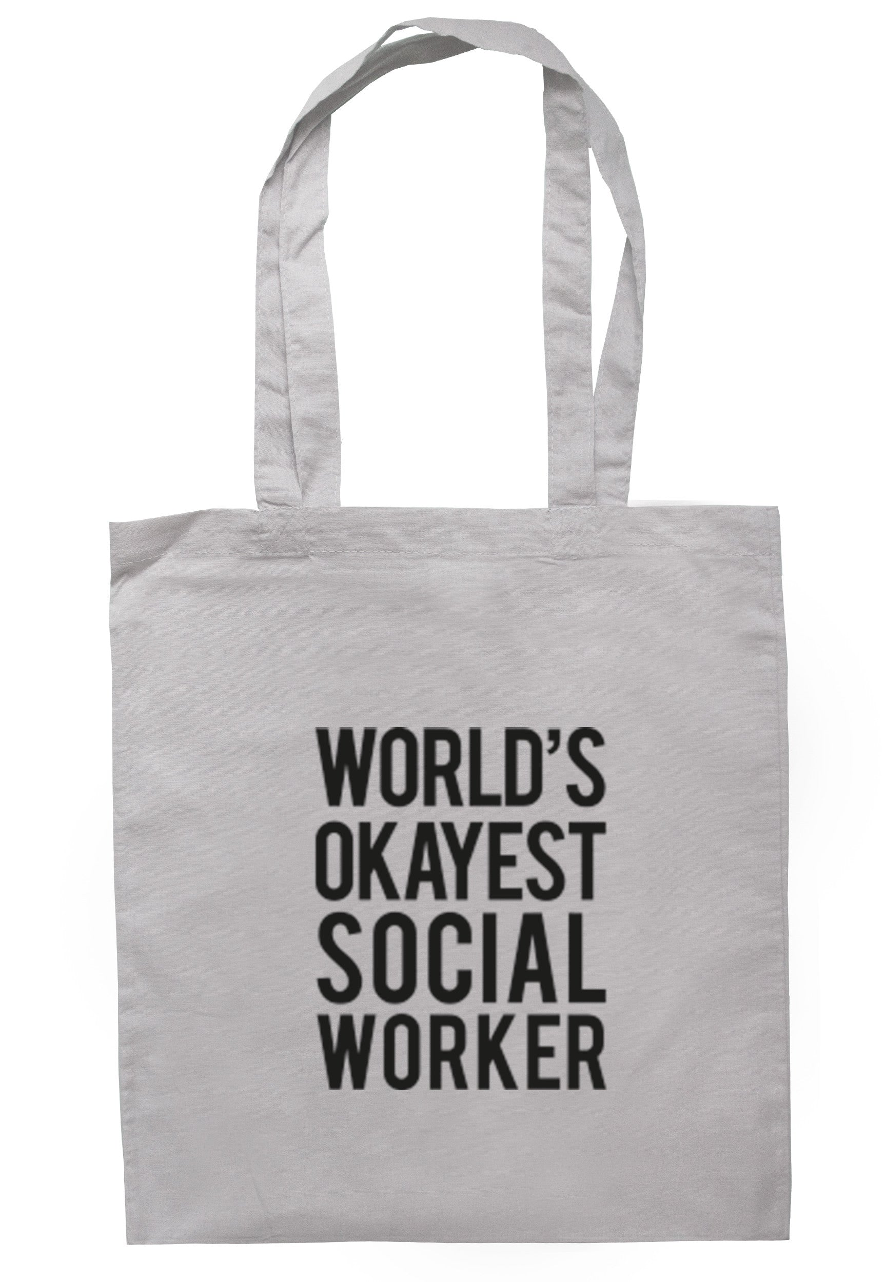 Worlds Okayest Social Worker Tote Bag TB0296 - Illustrated Identity Ltd.