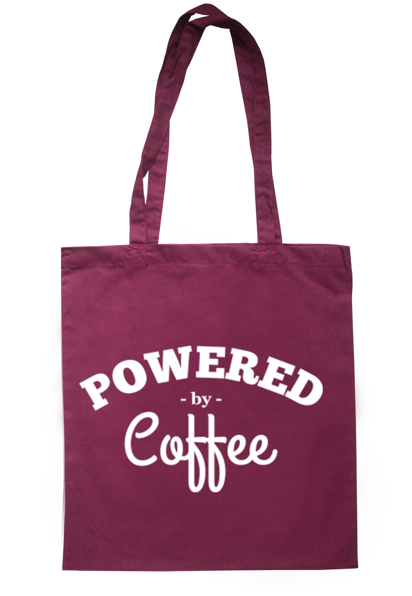 Powered By Coffee Tote Bag TB0092 - Illustrated Identity Ltd.
