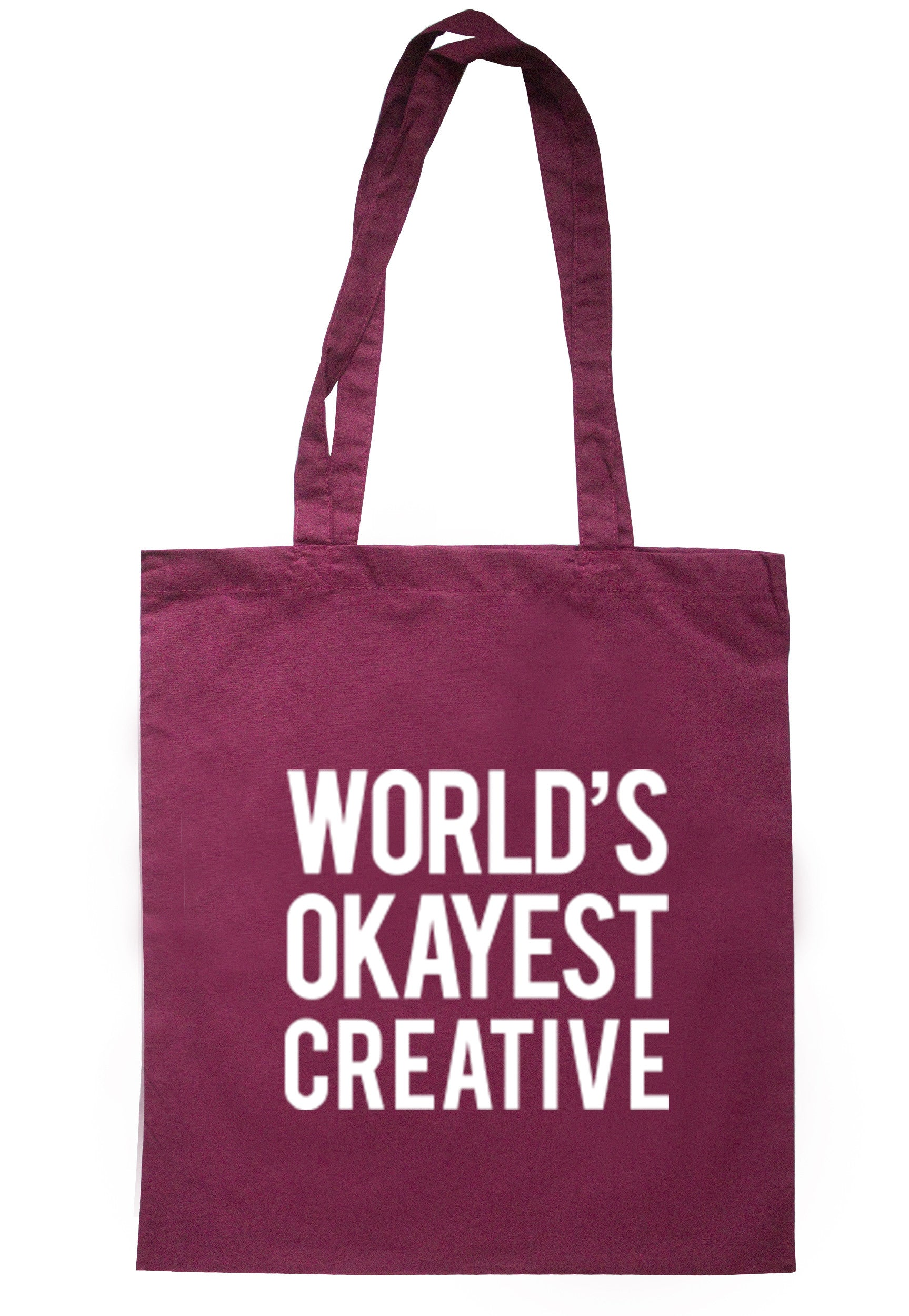 Worlds Okayest Creative Tote Bag TB0284 - Illustrated Identity Ltd.
