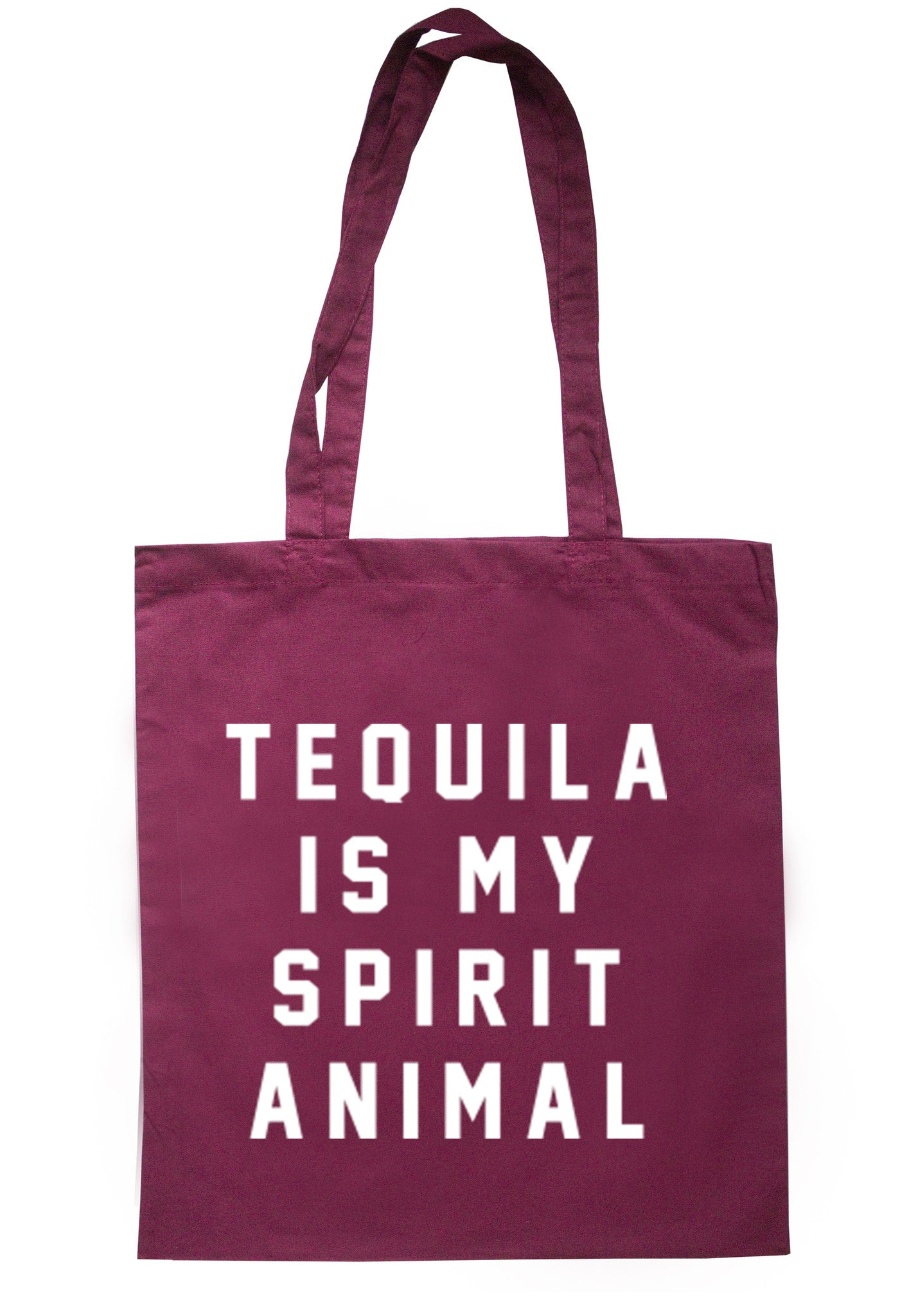 Tequila Is My Spirit Animal Tote Bag TB0054 - Illustrated Identity Ltd.