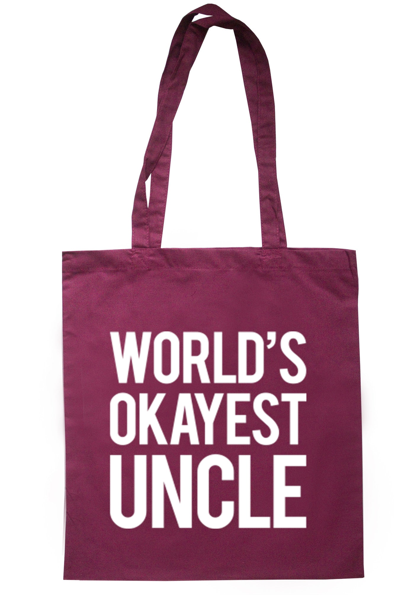 Worlds Okayest Uncle Tote Bag TB0034 - Illustrated Identity Ltd.