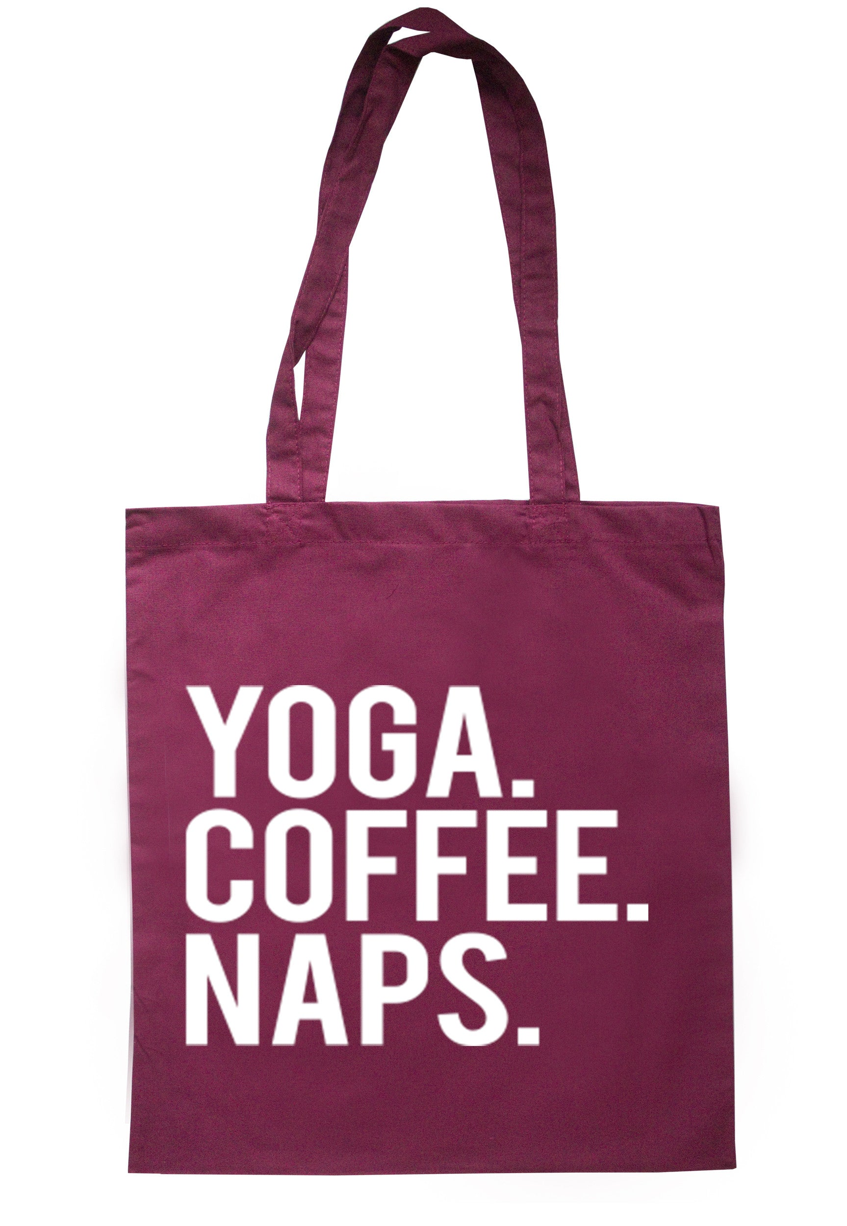 Yoga Coffee Naps Tote Bag TB0135 - Illustrated Identity Ltd.