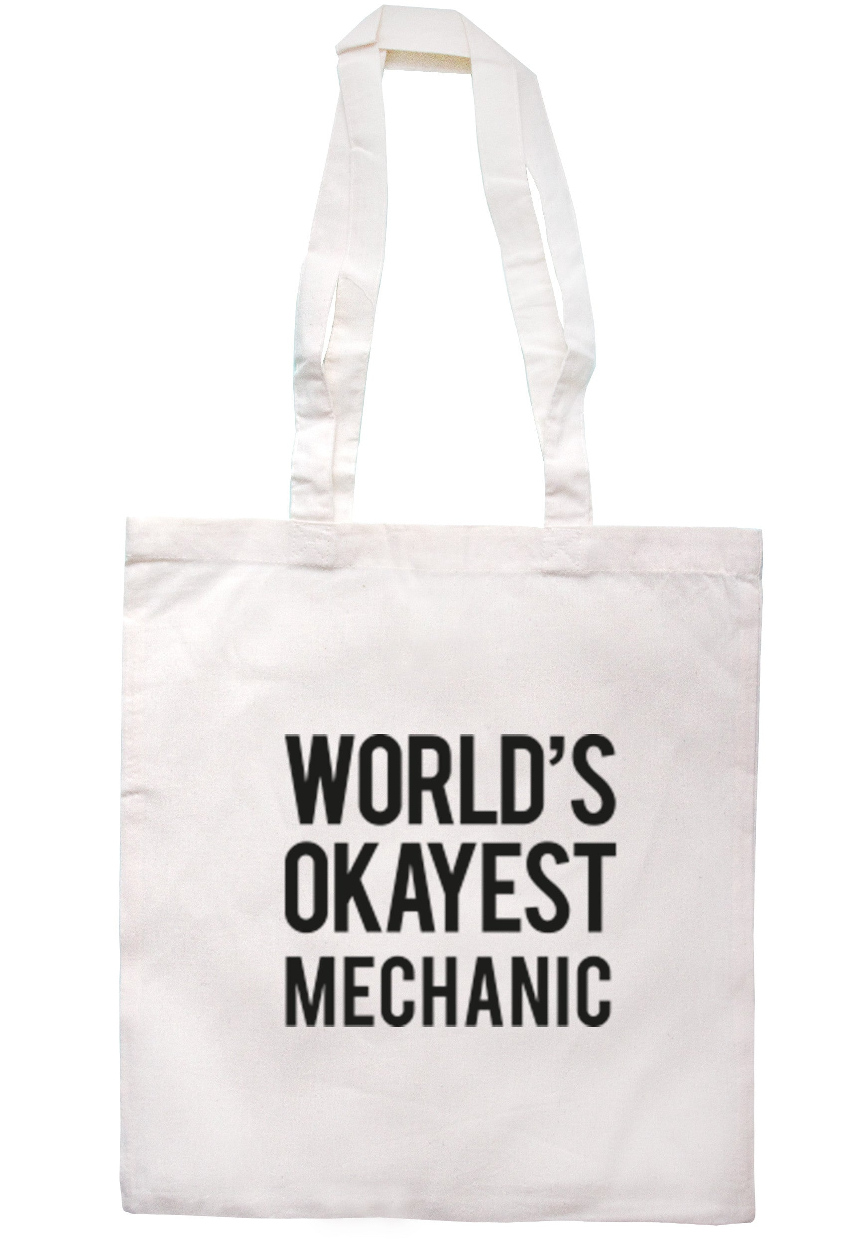 Worlds Okayest Mechanic Tote Bag TB0315 - Illustrated Identity Ltd.