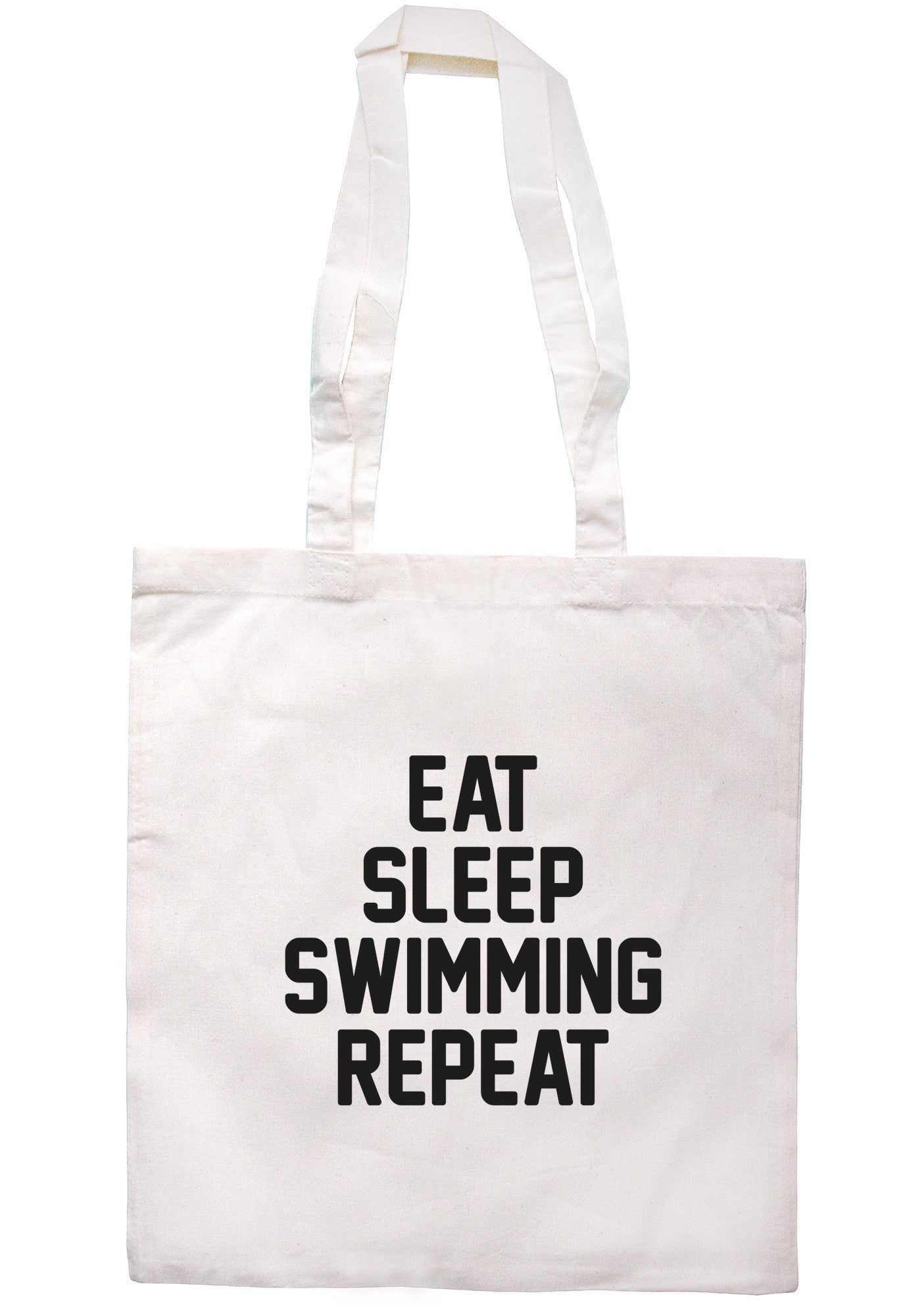 Eat Sleep Swimming Repeat Tote Bag TB0678 - Illustrated Identity Ltd.