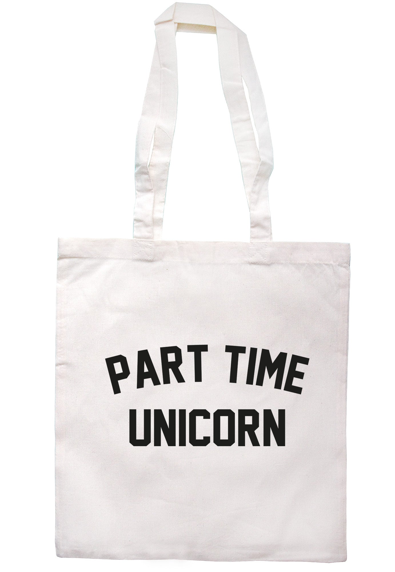 Part Time Unicorn Tote Bag TB0548 - Illustrated Identity Ltd.