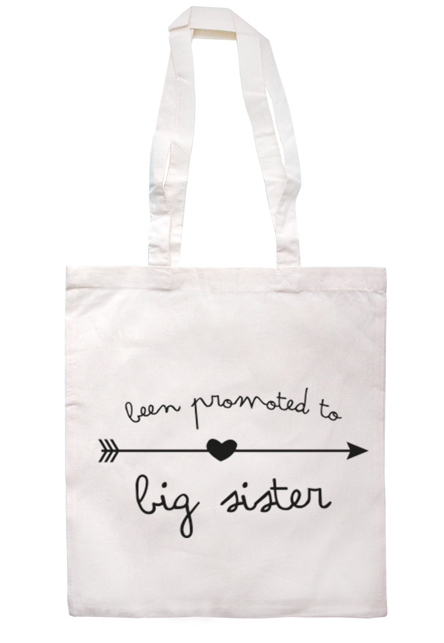 Been Promoted To Big Sister Tote Bag TB0024 - Illustrated Identity Ltd.