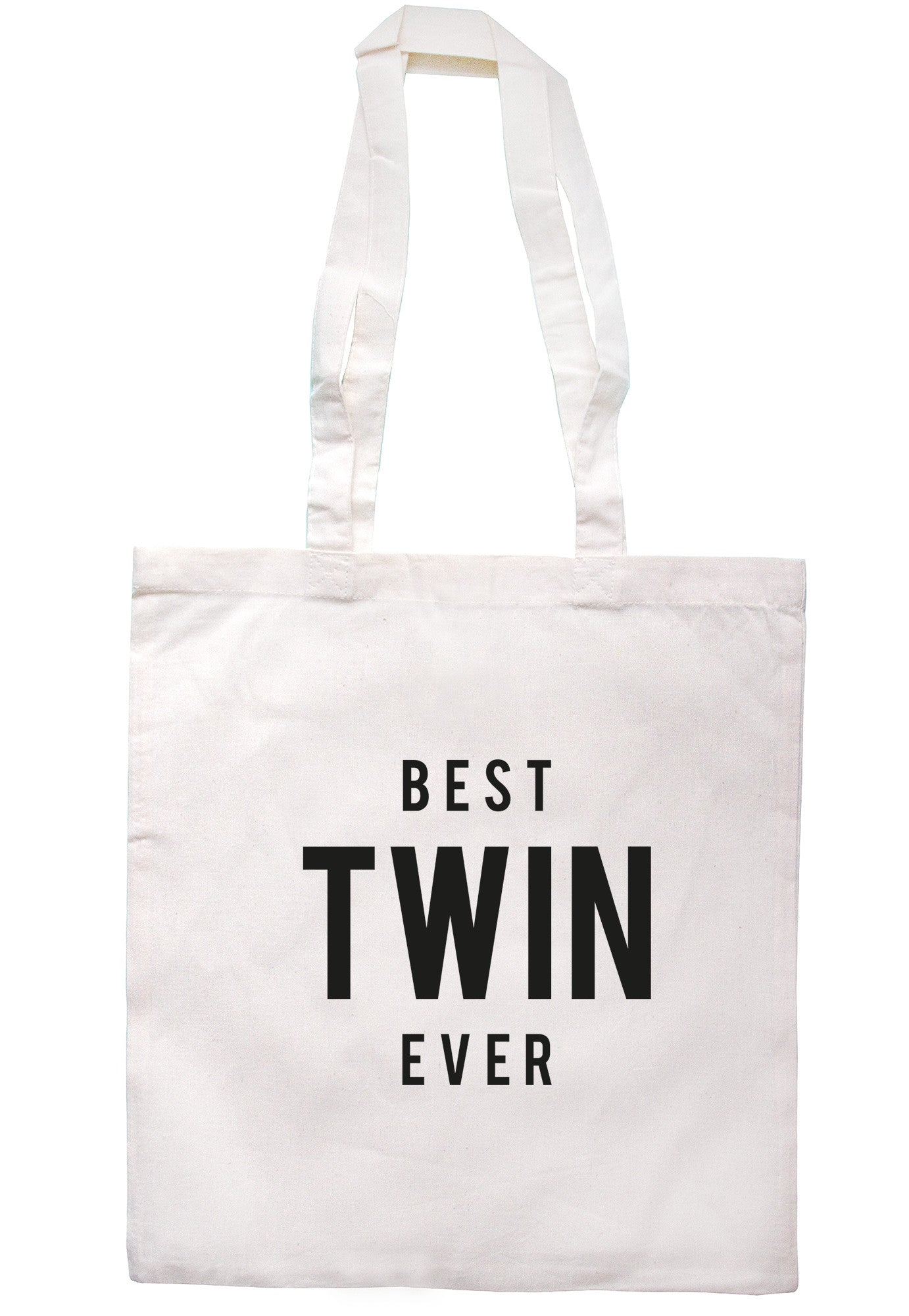 Best Twin Ever Tote Bag TB1277 - Illustrated Identity Ltd.