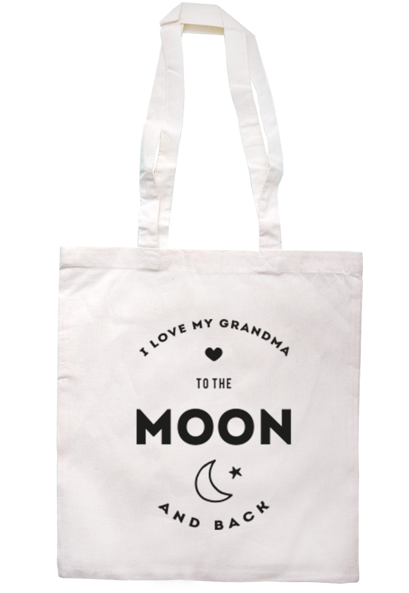 I Love My Grandma To The Moon And Back Tote Bag TB0206 - Illustrated Identity Ltd.