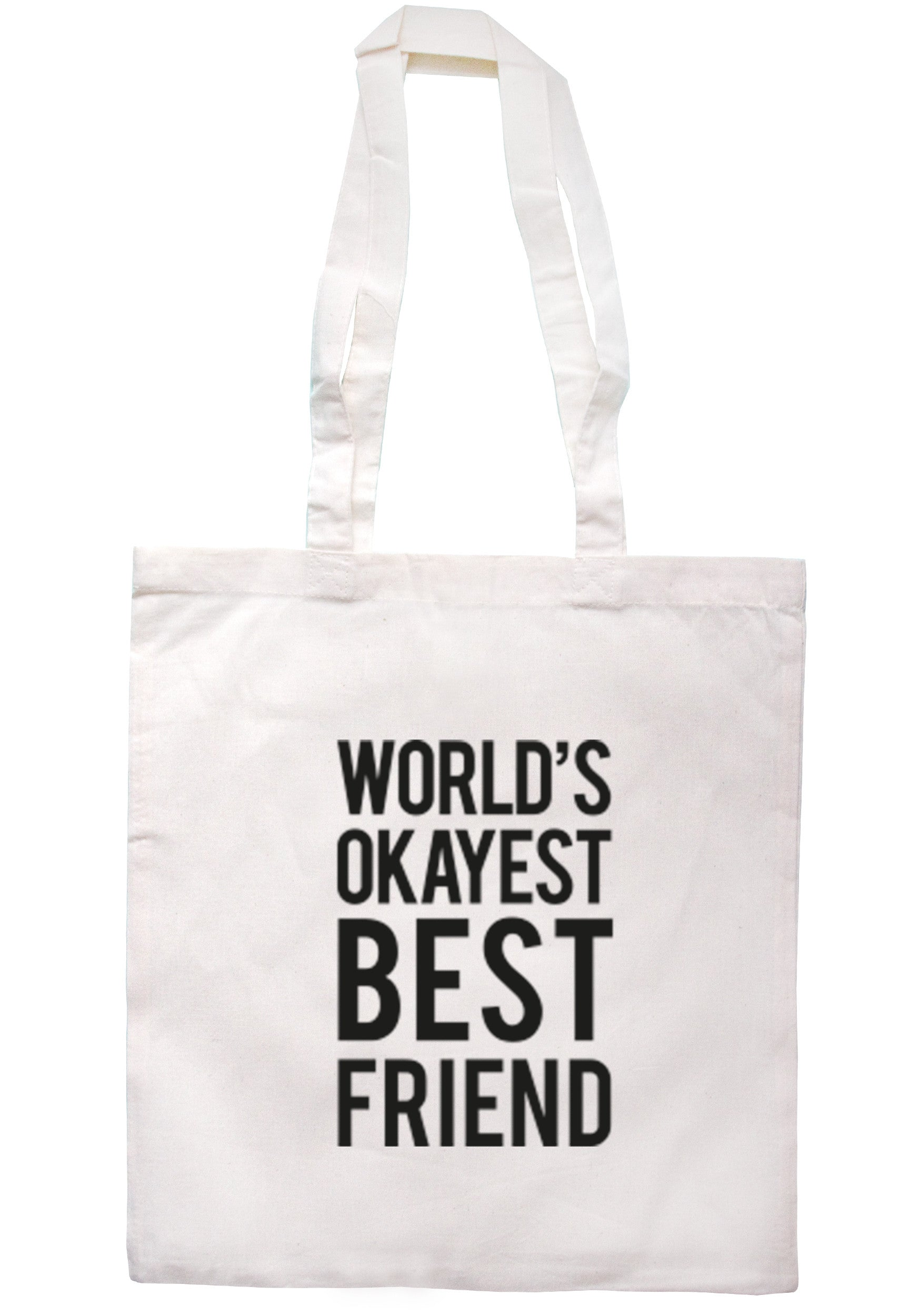 Worlds Okayest Best Friend Tote Bag TB0280 - Illustrated Identity Ltd.