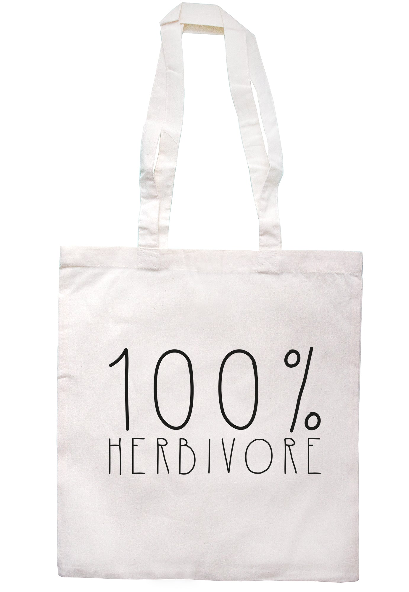 100% Herbivore Tote Bag TB1709 - Illustrated Identity Ltd.