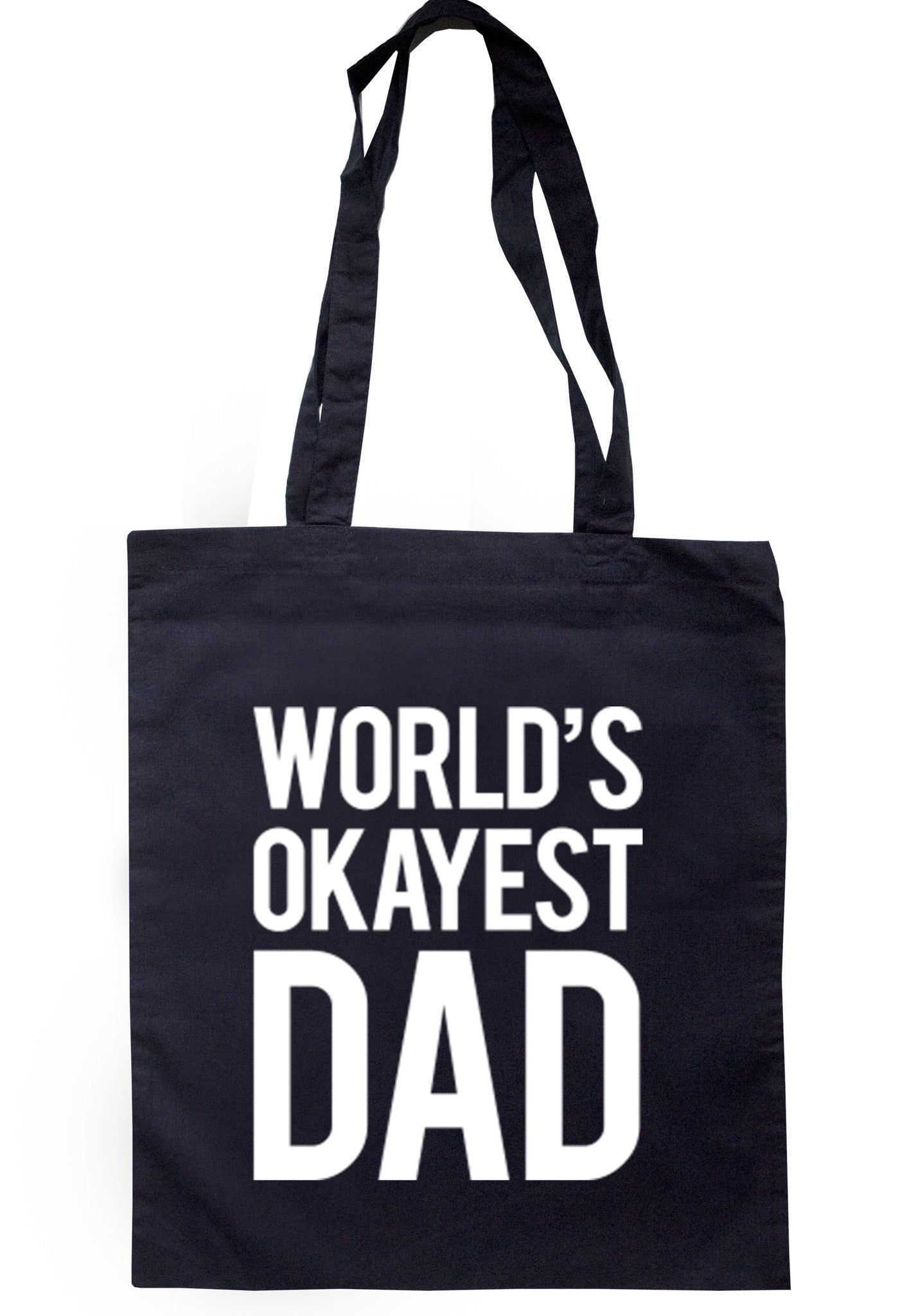 Worlds Okayest Dad Tote Bag TB0045 - Illustrated Identity Ltd.