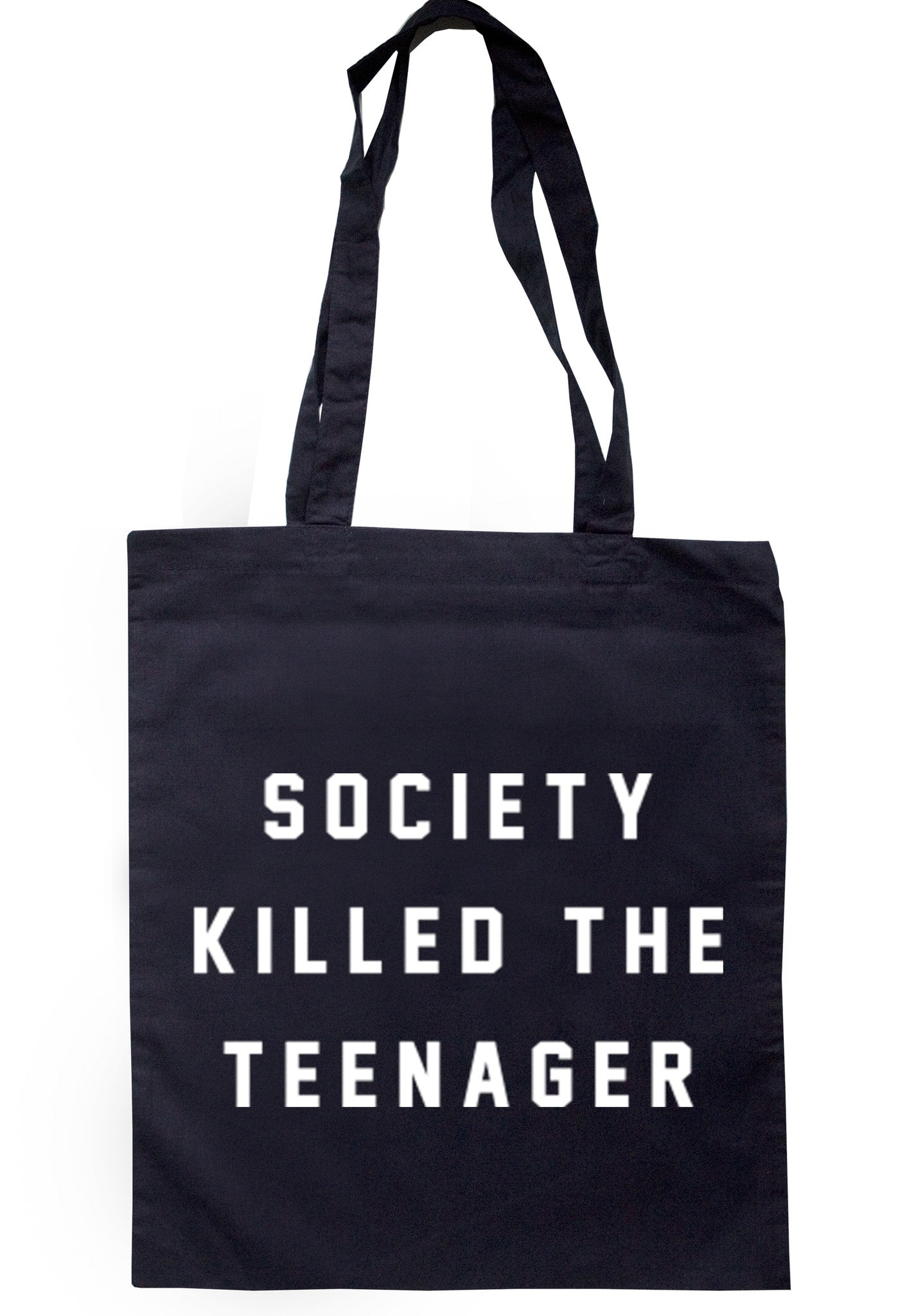Society Killed The Teenager Tote Bag TB0050 - Illustrated Identity Ltd.