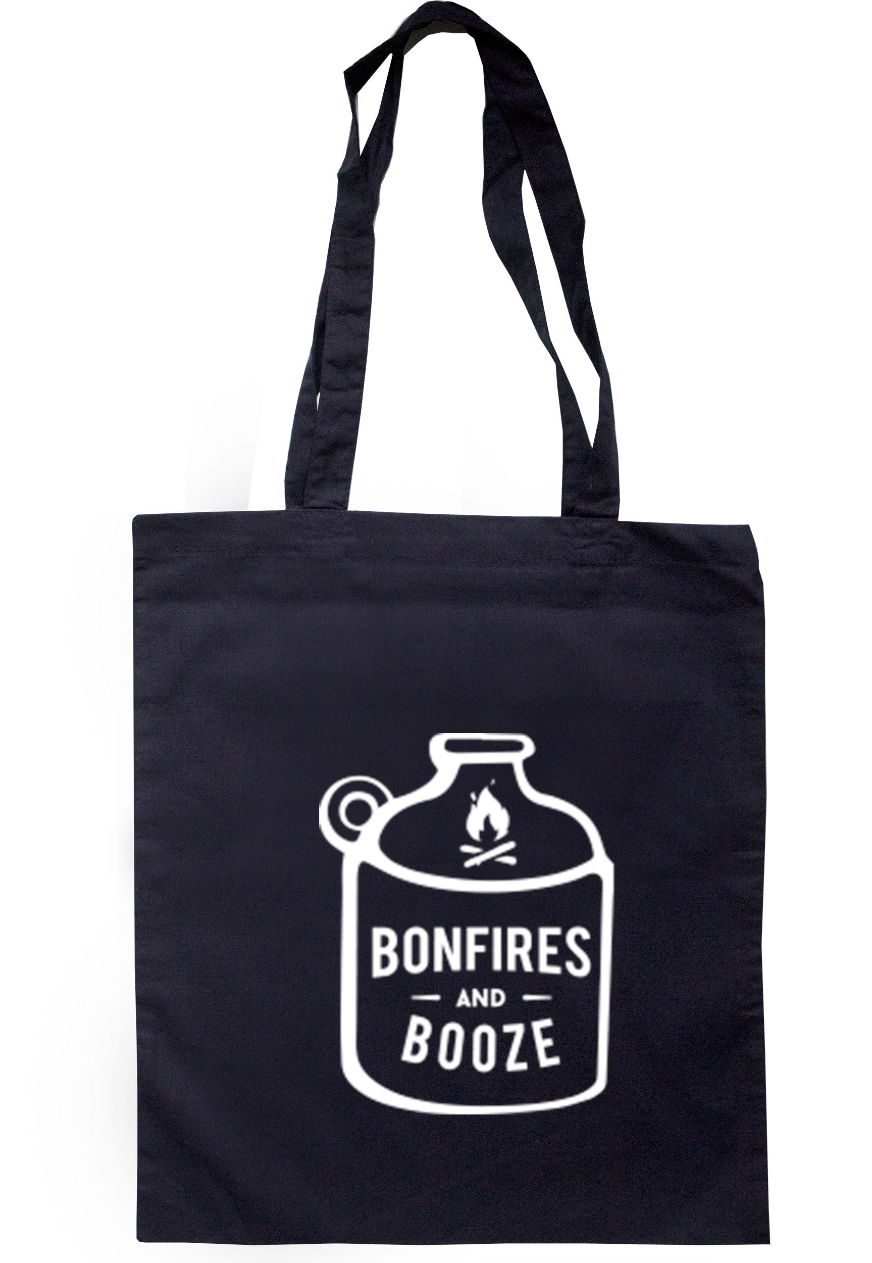 Bonfires And Booze Tote Bag TB0332 - Illustrated Identity Ltd.