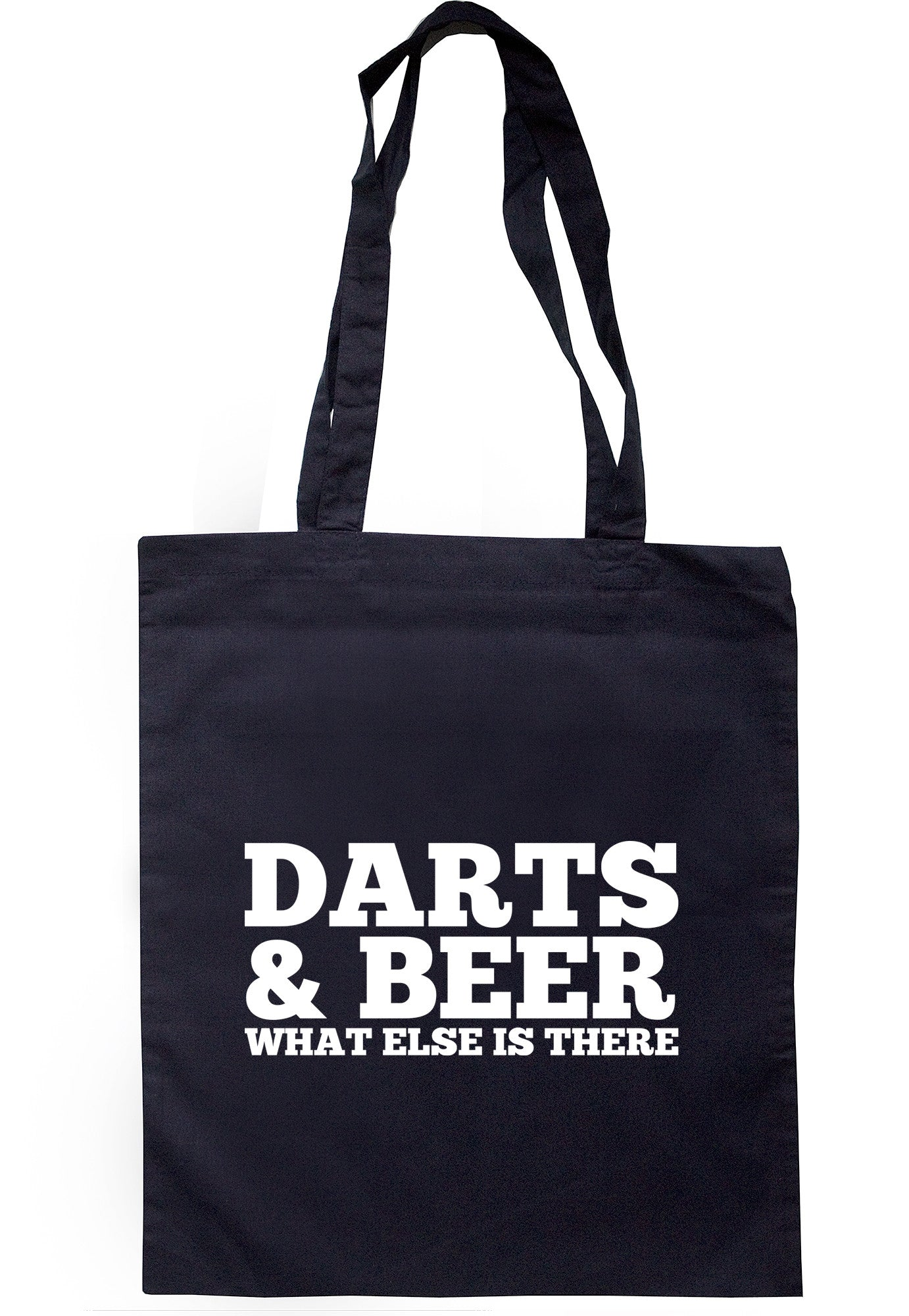 Darts & Beer What Else Is There Tote Bag TB0475 - Illustrated Identity Ltd.