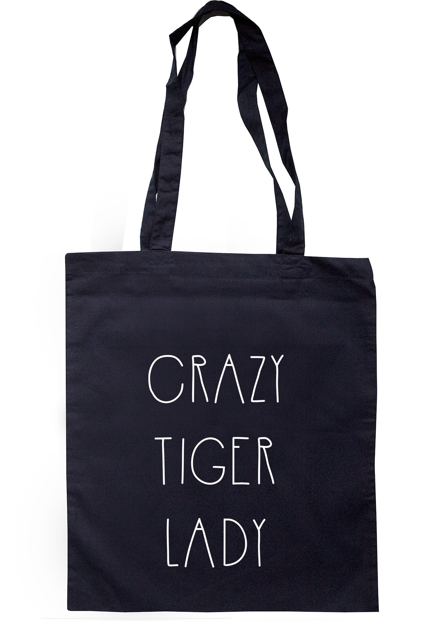 Crazy Tiger Lady Tote Bag TB0383 - Illustrated Identity Ltd.
