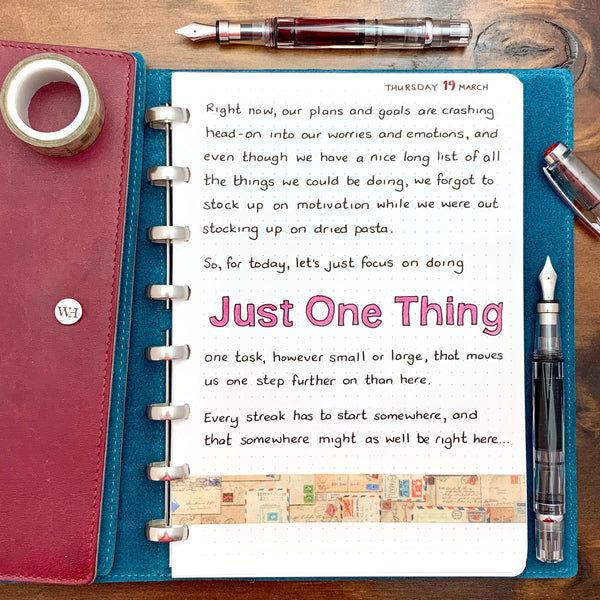 Just One Thing...