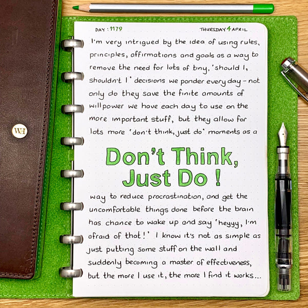 Don't think, just do !