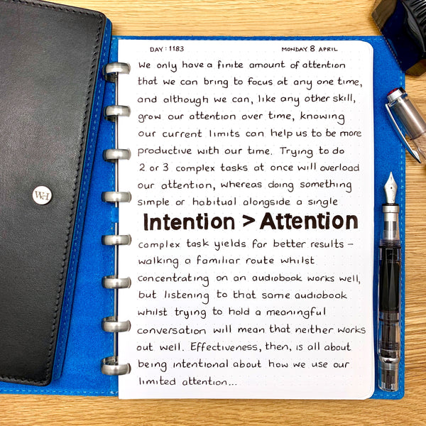 Intention > Attention