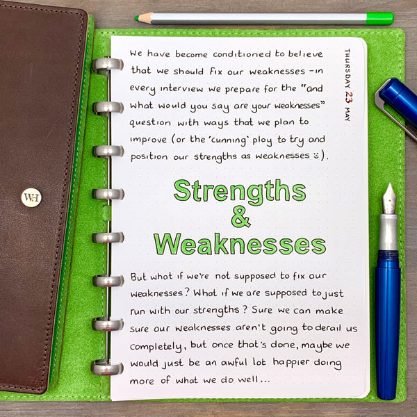 Strengths & Weaknesses...