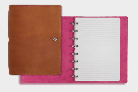 A5 Whiskey & Fuchsia Notebook