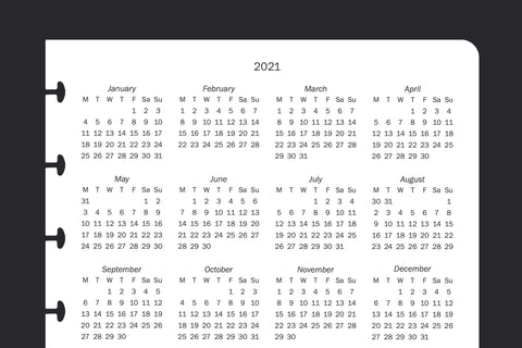 2021/2022 Back Page Calendar (A5, 2 Pack)