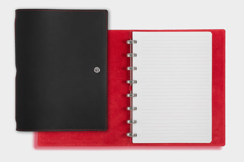 A5 Black & Crimson Notebook