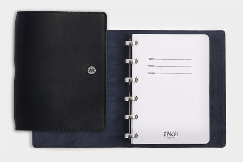 A6 Black & Navy Notebook
