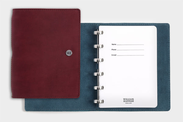 A6 Bordeaux & Petrol Notebook