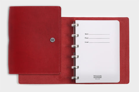 A6 Red Chilli & Crimson Notebook