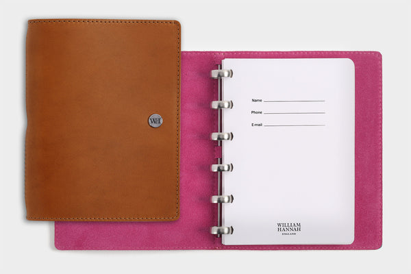 A6 Whiskey & Fuchsia Notebook