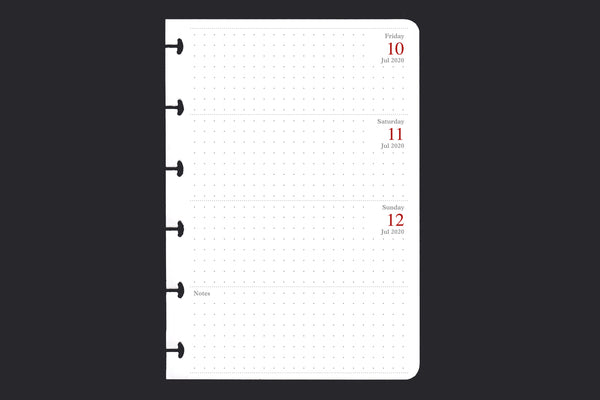 Six Month Weekly Diary Pack (A6, One-week-to-TWO-pages)