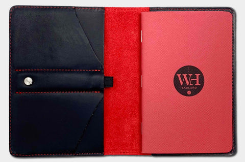 Black & Crimson Pocket Notebook Cover