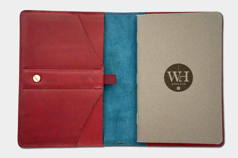 Bordeaux & Petrol Pocket Notebook Cover