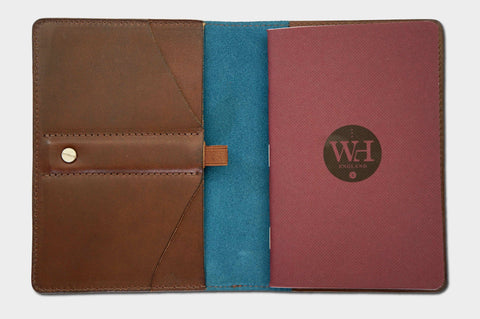 Dark Chocolate & Petrol Pocket Notebook Cover