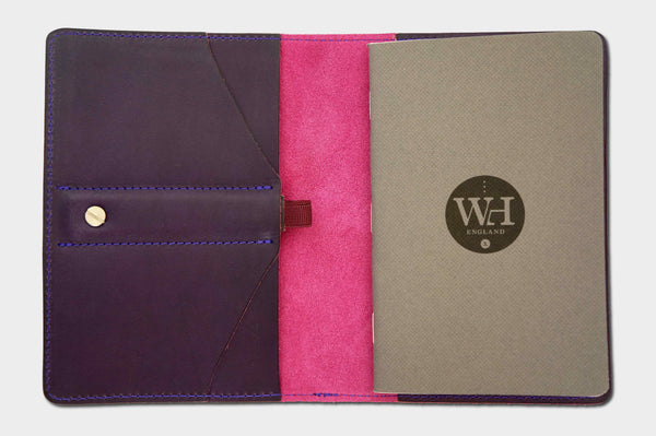 Deep Purple & Fuchsia Pocket Notebook Cover