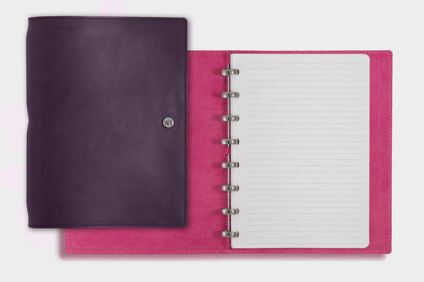 A5 Deep Purple & Fuchsia Notebook