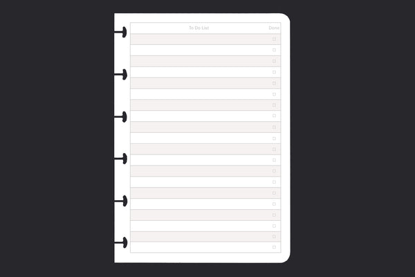 To Do List (A6, 25 pack)