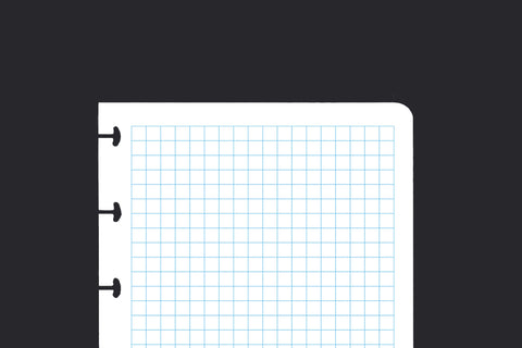 5mm Lined Grid Paper (A6, 100 pack)