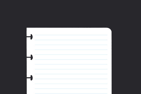 Lined Paper (A6, 50 pack)