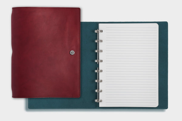 A5 Bordeaux & Petrol Notebook