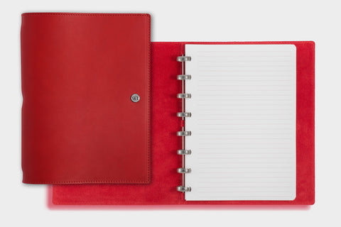 A5 Red Chilli & Crimson Notebook