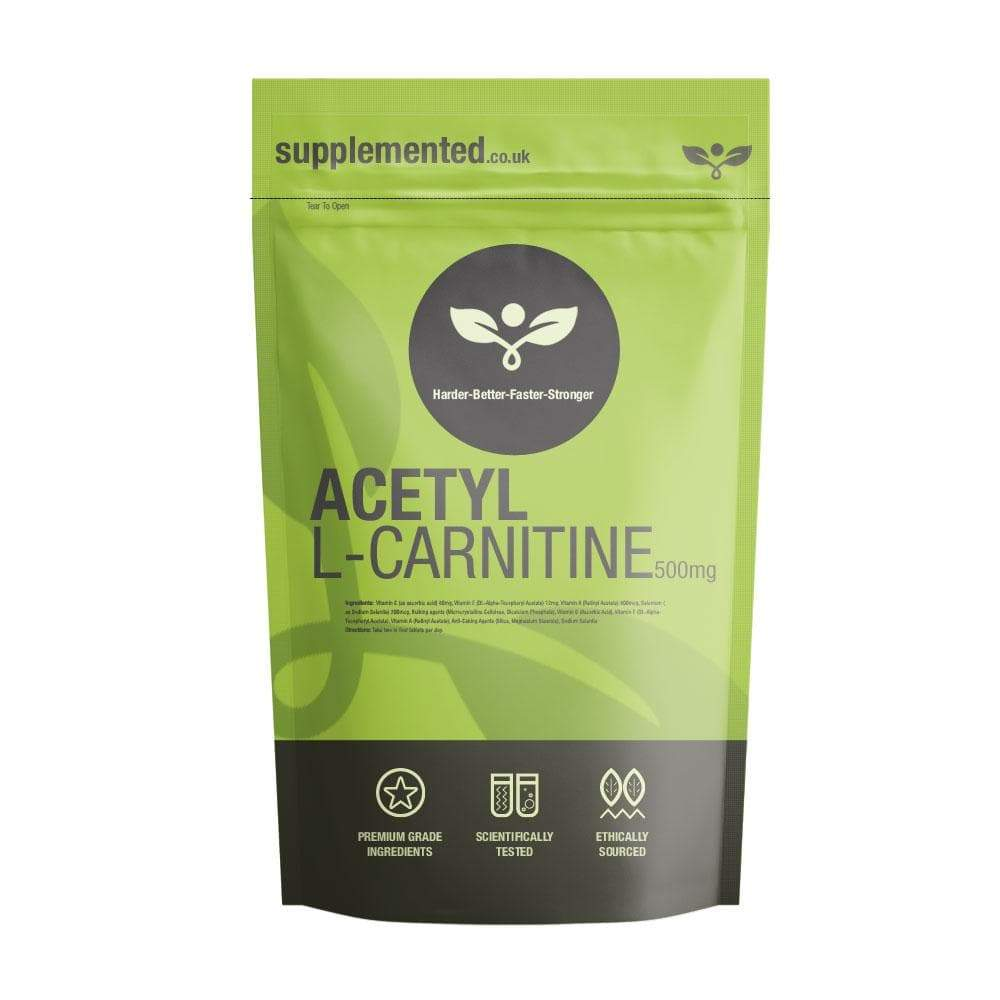 Acetyl L-Carnitine 500mg Tablets - Supplemented