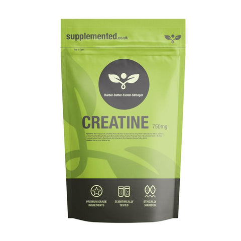 Creatine Monohydrate 750mg Capsules - Supplemented