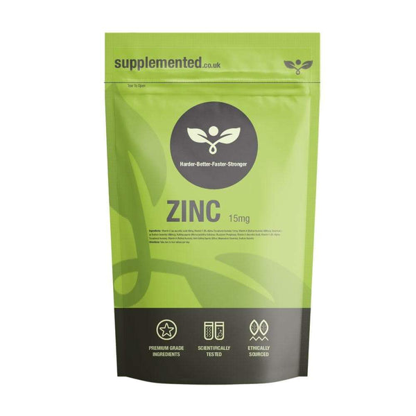 Zinc 15mg Tablets - Supplemented