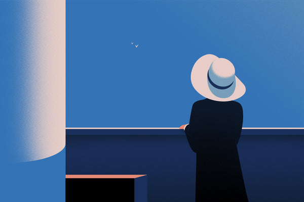 Lady With a Hat (landscape)