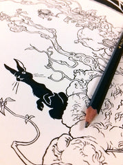 Watership Down (Ink Drawing)